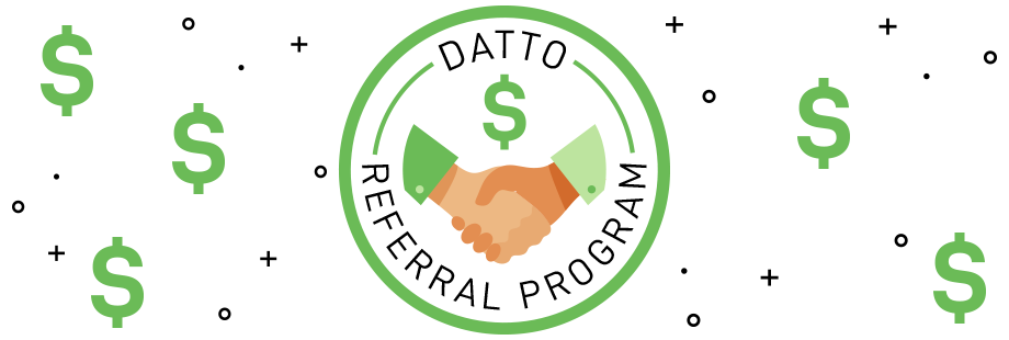 Datto Referral Program banner