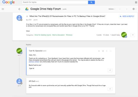 Google Drive Help Forum