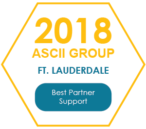 2018 ASCII Group Ft. Lauderdale - Best Partner Support