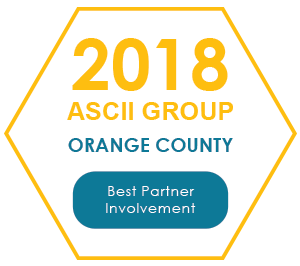 2018 ASCII Group Orange County - Best Partner Involvement
