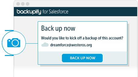Backupify salesforce initiate backup
