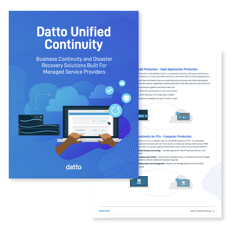 Unified Continuity Product Brochure
