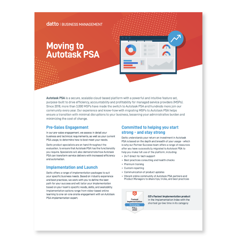 Switching to Autotask PSA Made Easy